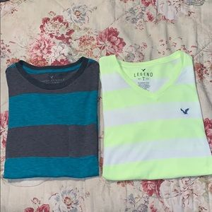 2 American Eagle short sleeved tee-shirts Sz Small